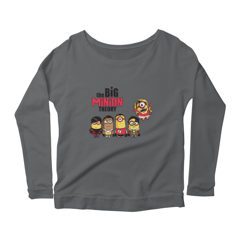 The Big Minion Theory Women's Longsleeve Scoopneck  by Donnie's Artist Shop