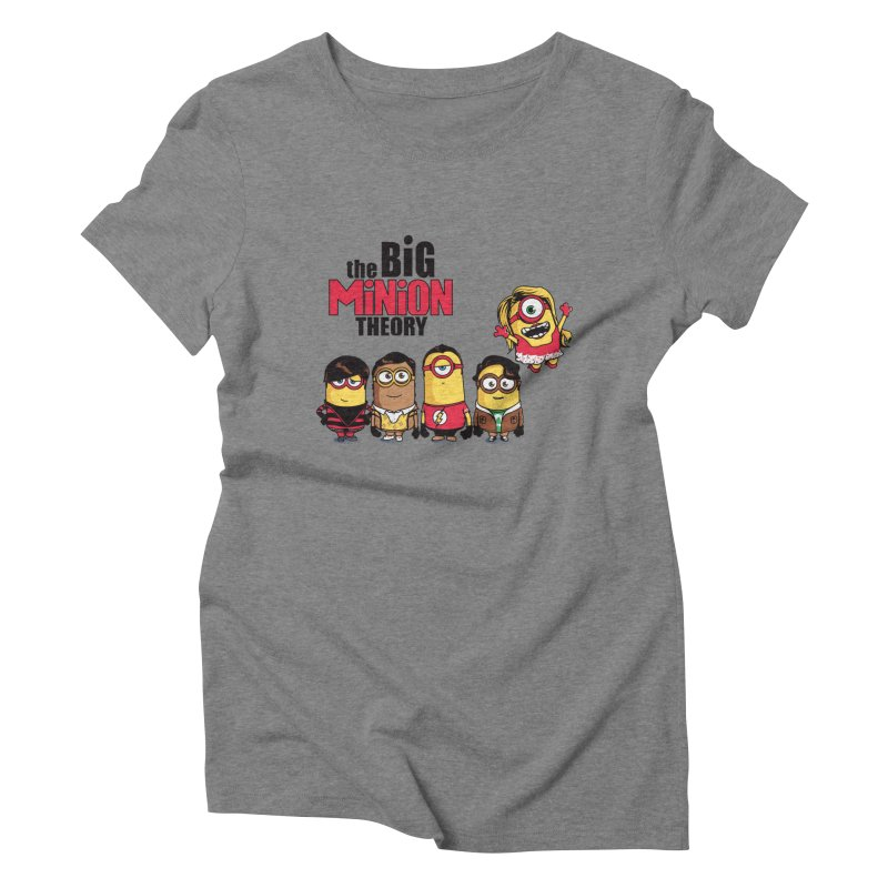 The Big Minion Theory Women's Triblend T-shirt by Donnie's Artist Shop