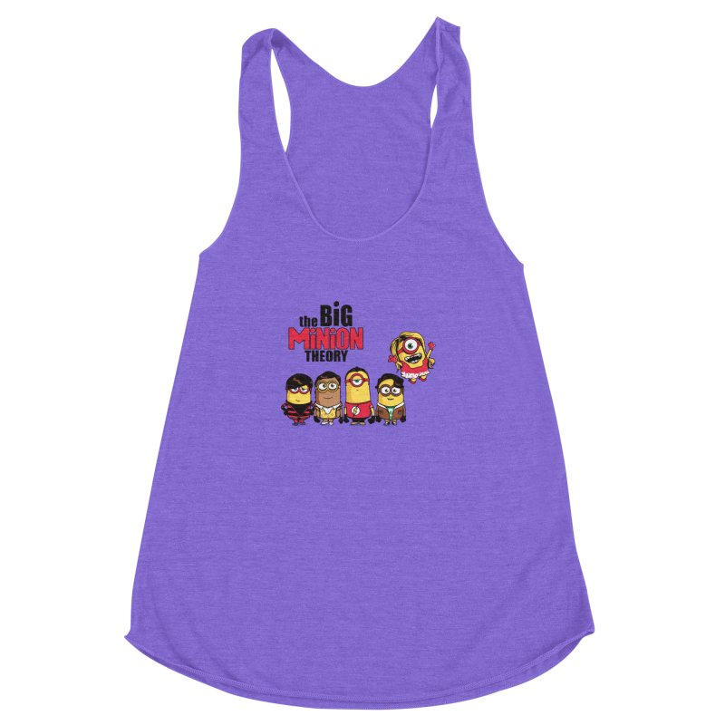 The Big Minion Theory Women's Racerback Triblend Tank by Donnie's Artist Shop
