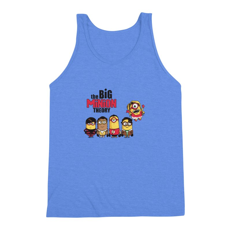 The Big Minion Theory Men's Triblend Tank by Donnie's Artist Shop
