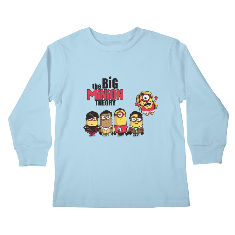 The Big Minion Theory Kids Longsleeve T-Shirt by Donnie's Artist Shop