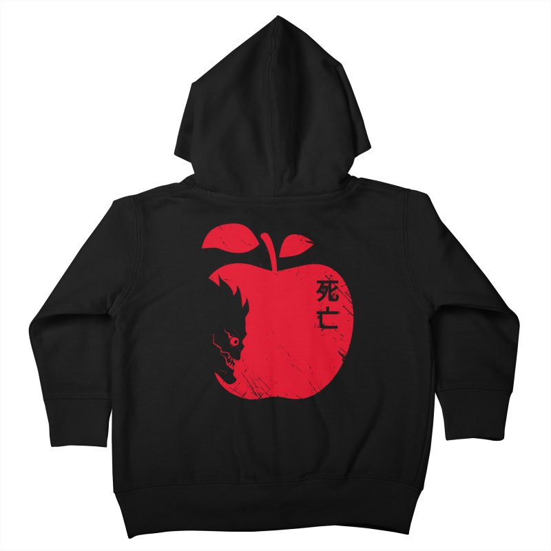 Apple of the Death Kids Toddler Zip-Up Hoody by Donnie's Artist Shop