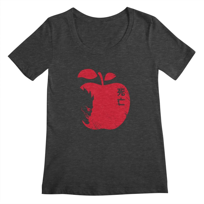 Apple of the Death Women's Scoopneck by Donnie's Artist Shop