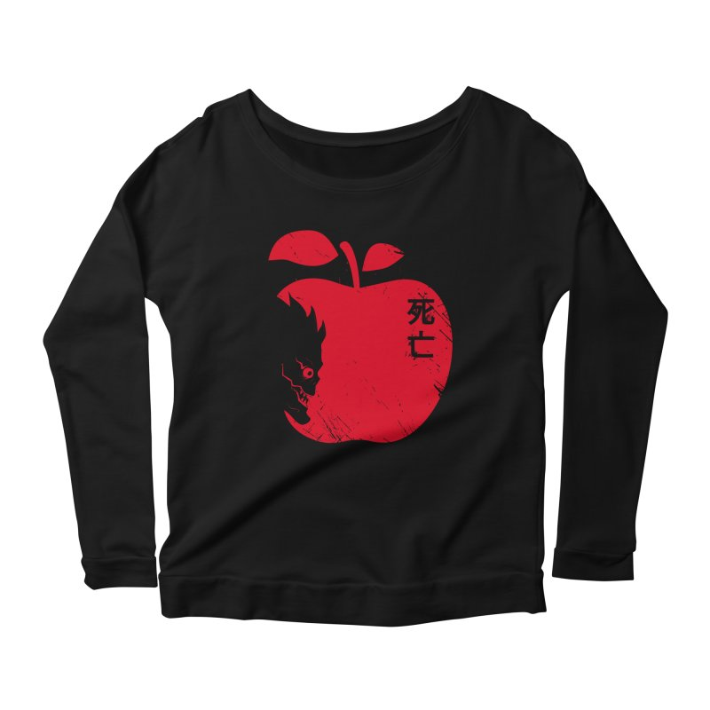 Apple of the Death Women's Longsleeve Scoopneck  by Donnie's Artist Shop