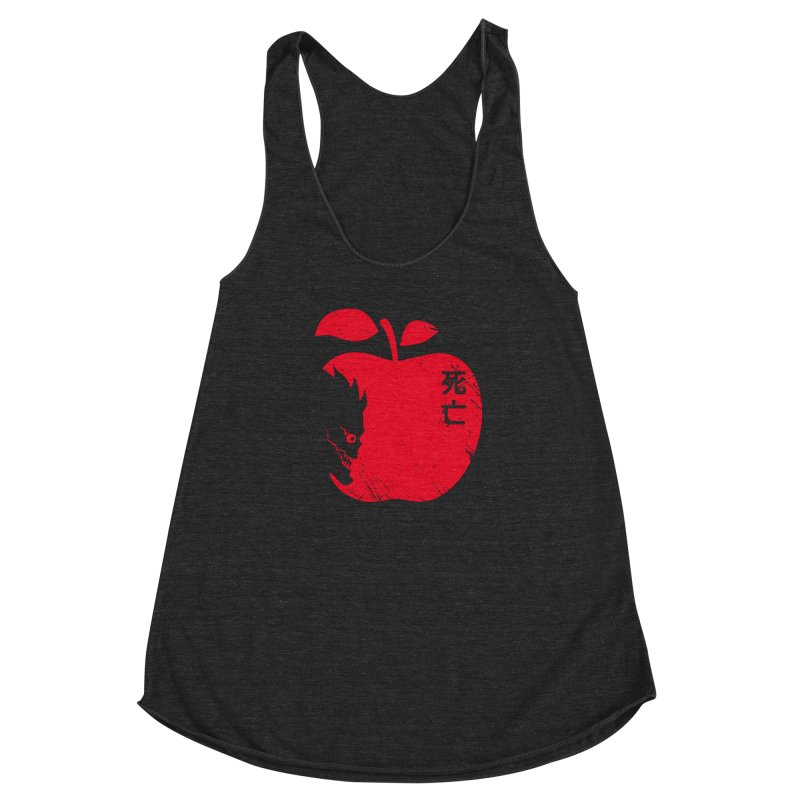Apple of the Death Women's Racerback Triblend Tank by Donnie's Artist Shop