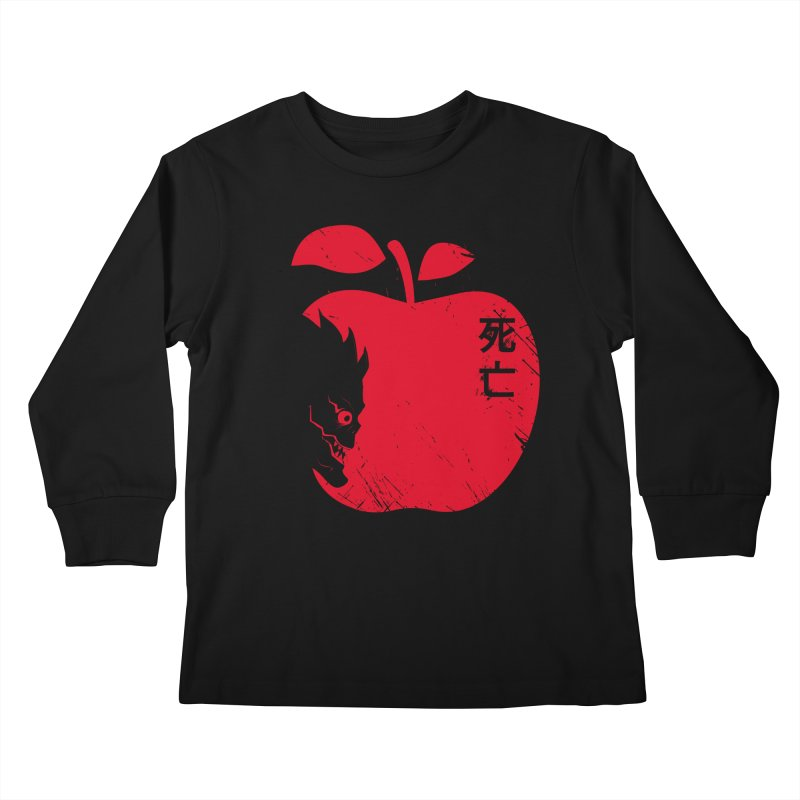 Apple of the Death Kids Longsleeve T-Shirt by Donnie's Artist Shop