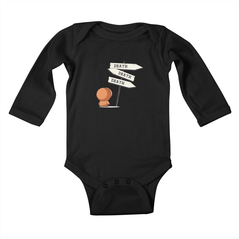 Deathtiny Kids Baby Longsleeve Bodysuit by Donnie's Artist Shop