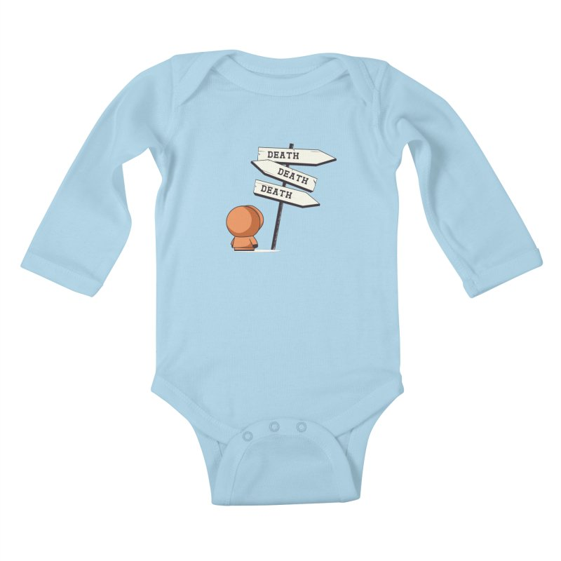 Deathtiny Kids Baby Longsleeve Bodysuit by Donnie's Artist Shop