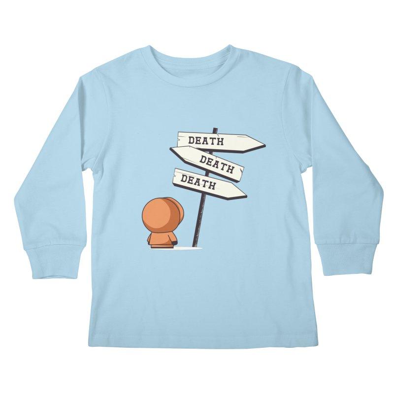 Deathtiny Kids Longsleeve T-Shirt by Donnie's Artist Shop
