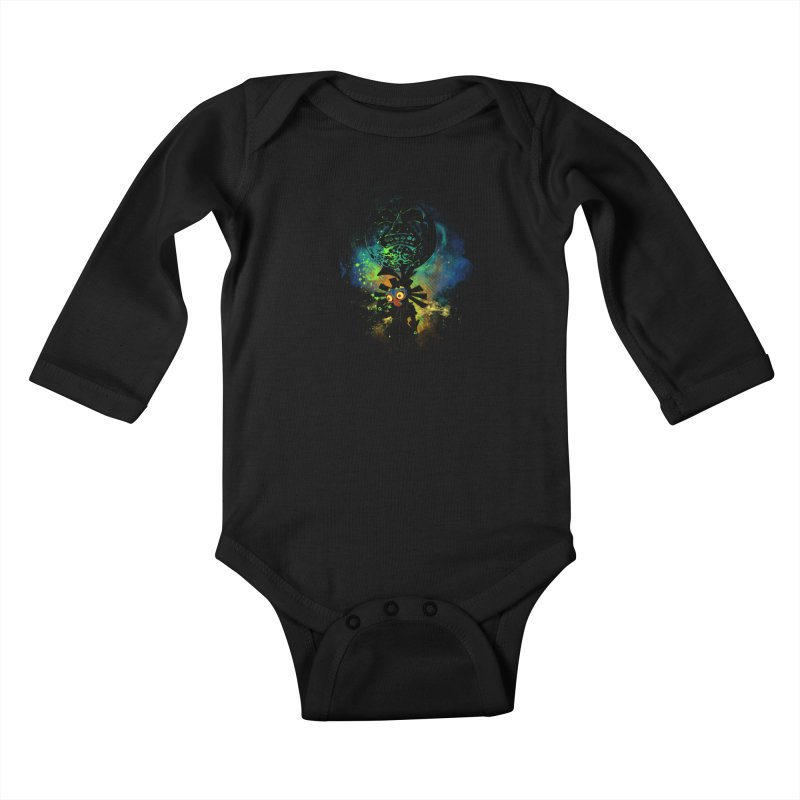 Majora's Mask Kids Baby Longsleeve Bodysuit by Donnie's Artist Shop