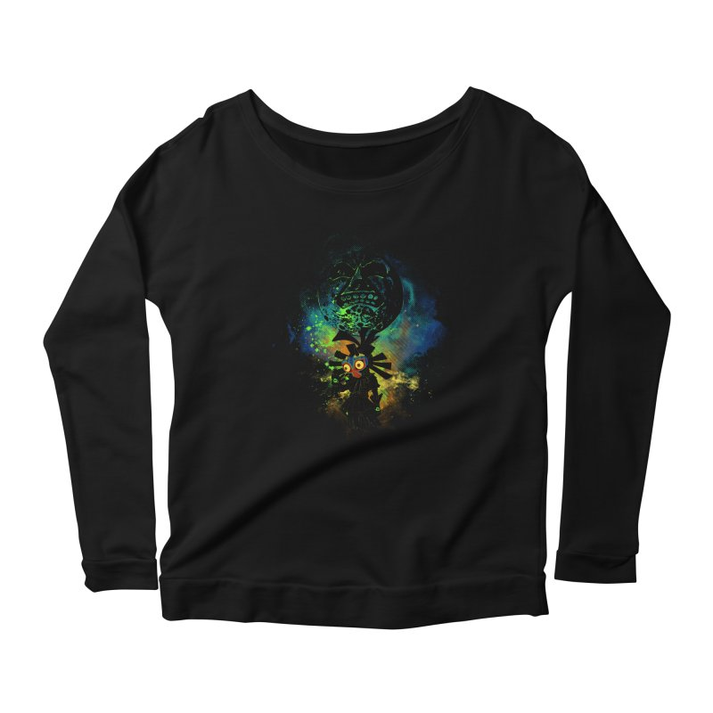 Majora's Mask Women's Longsleeve Scoopneck  by Donnie's Artist Shop