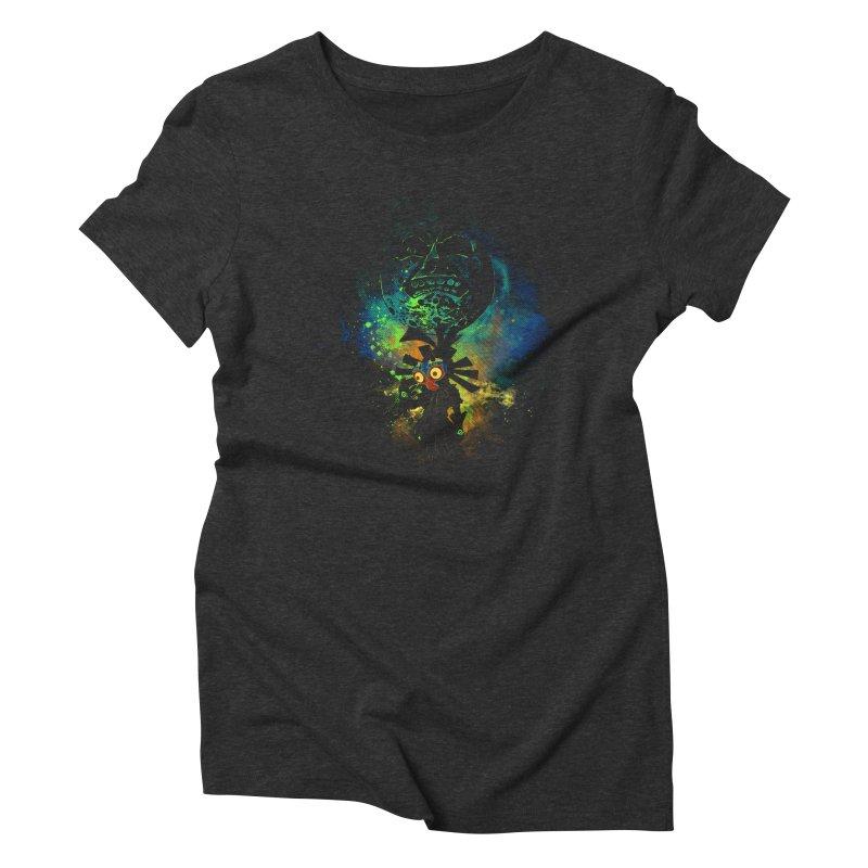 Majora's Mask Women's Triblend T-shirt by Donnie's Artist Shop