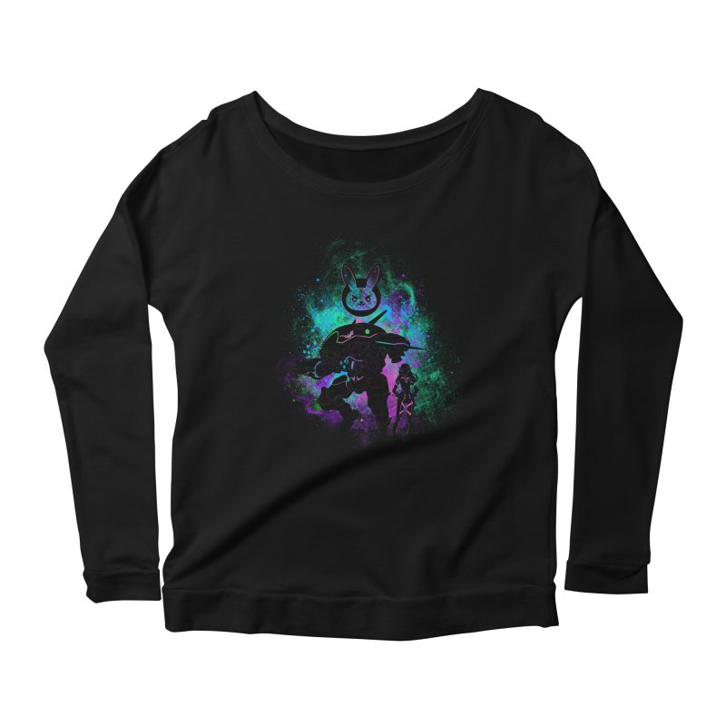 Nerf this Art Women's Longsleeve Scoopneck  by Donnie's Artist Shop