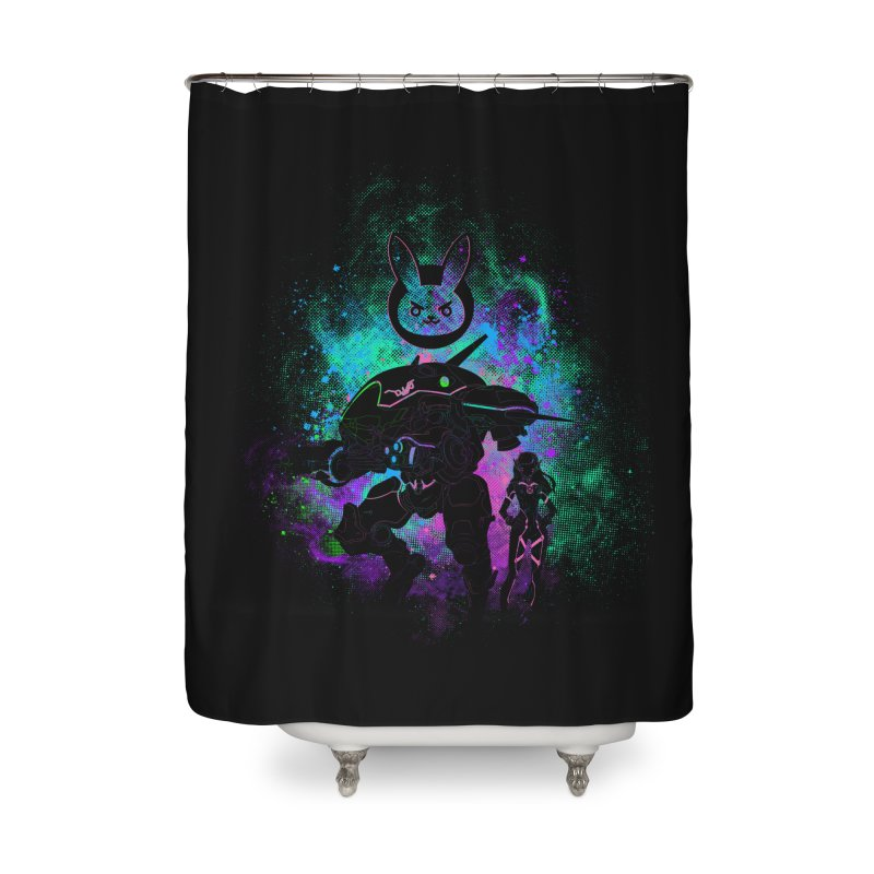 Nerf this Art Home Shower Curtain by Donnie's Artist Shop