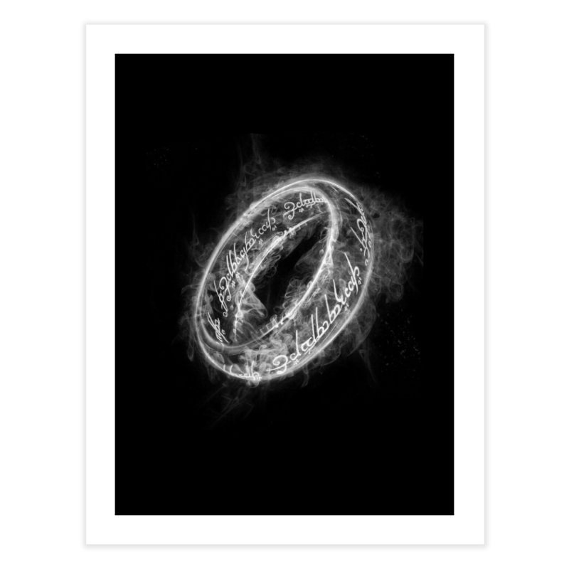 Ring Smoke Home Fine Art Print by Donnie's Artist Shop