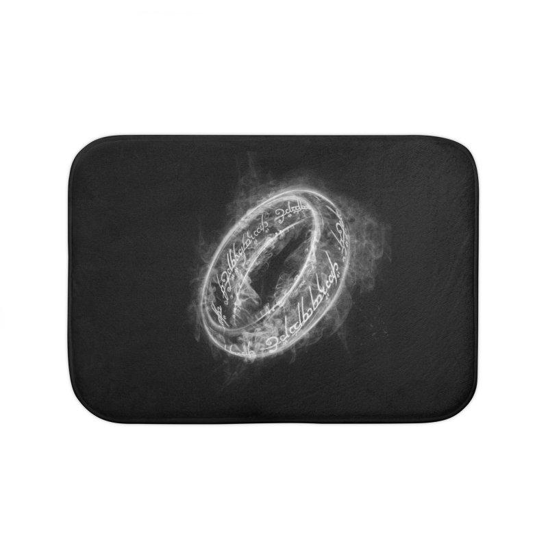 Ring Smoke Home Bath Mat by Donnie's Artist Shop