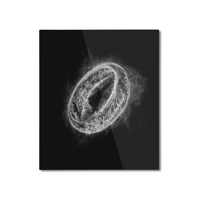 Ring Smoke Home Mounted Aluminum Print by Donnie's Artist Shop