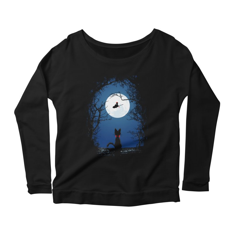 Fly with your spirit Women's Scoop Neck Longsleeve T-Shirt by Donnie's Artist Shop