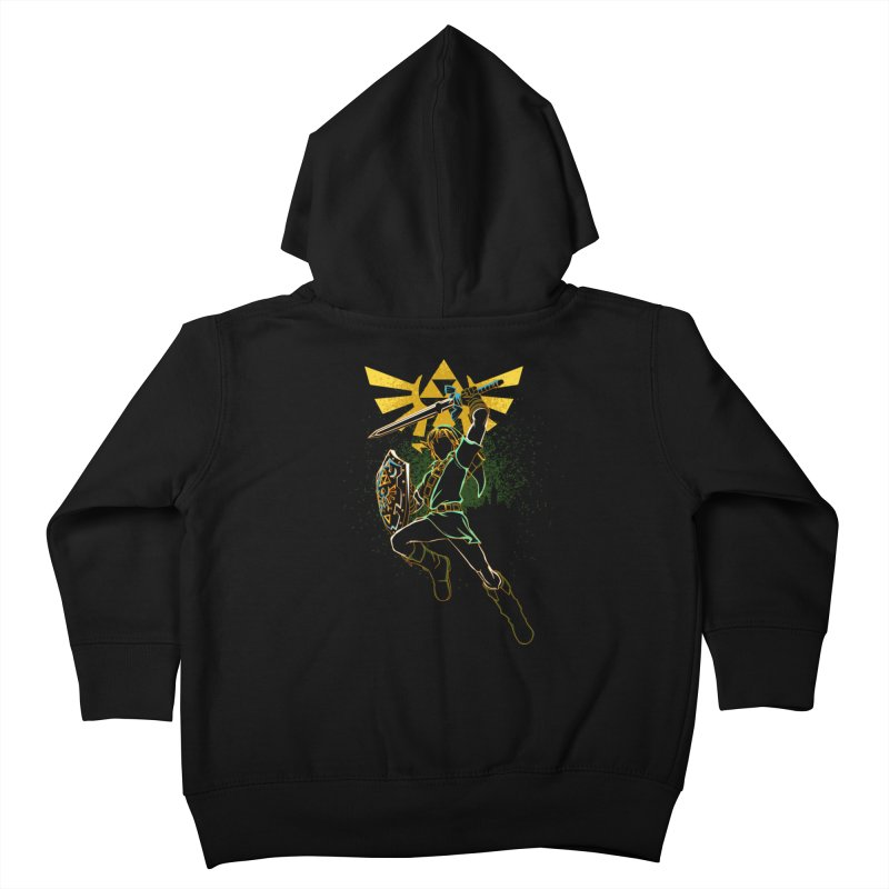 Shadow of courage Kids Toddler Zip-Up Hoody by Donnie's Artist Shop