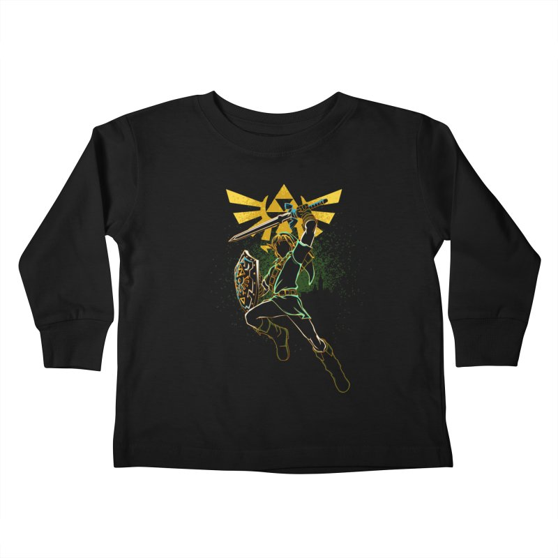 Shadow of courage Kids Toddler Longsleeve T-Shirt by Donnie's Artist Shop