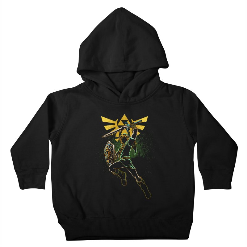 Shadow of courage Kids Toddler Pullover Hoody by Donnie's Artist Shop