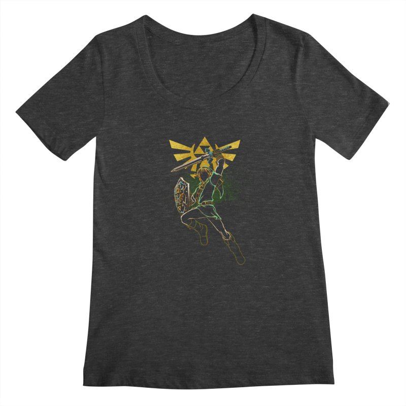 Shadow of courage Women's Scoopneck by Donnie's Artist Shop