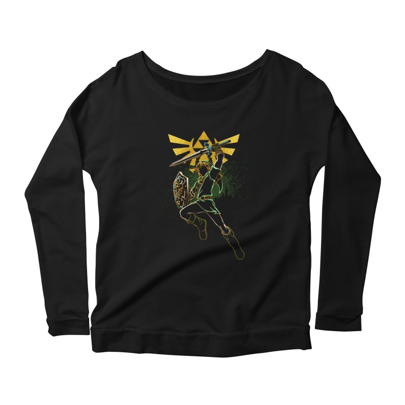 Shadow of courage Women's Longsleeve Scoopneck  by Donnie's Artist Shop