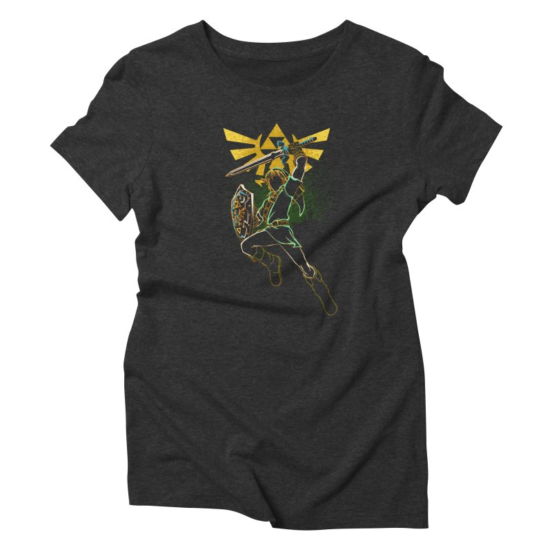 Shadow of courage Women's Triblend T-Shirt by Donnie's Artist Shop