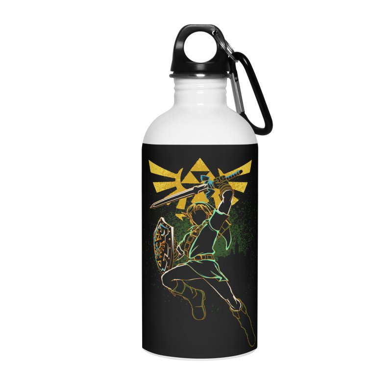 Shadow of courage Accessories Water Bottle by Donnie's Artist Shop