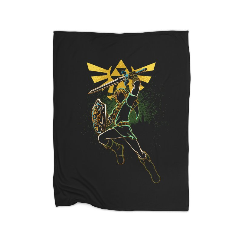 Shadow of courage Home Blanket by Donnie's Artist Shop