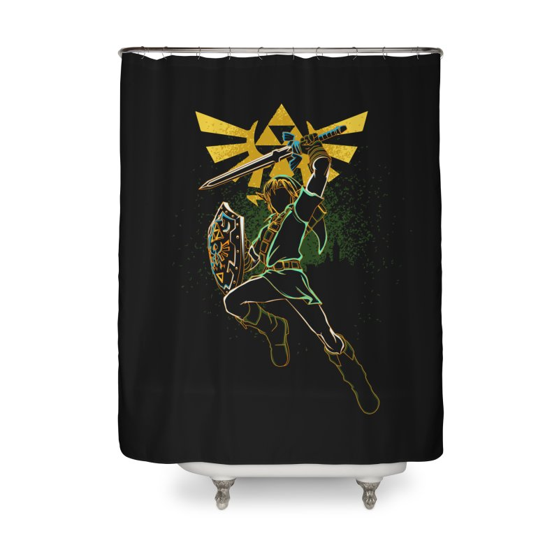 Shadow of courage Home Shower Curtain by Donnie's Artist Shop