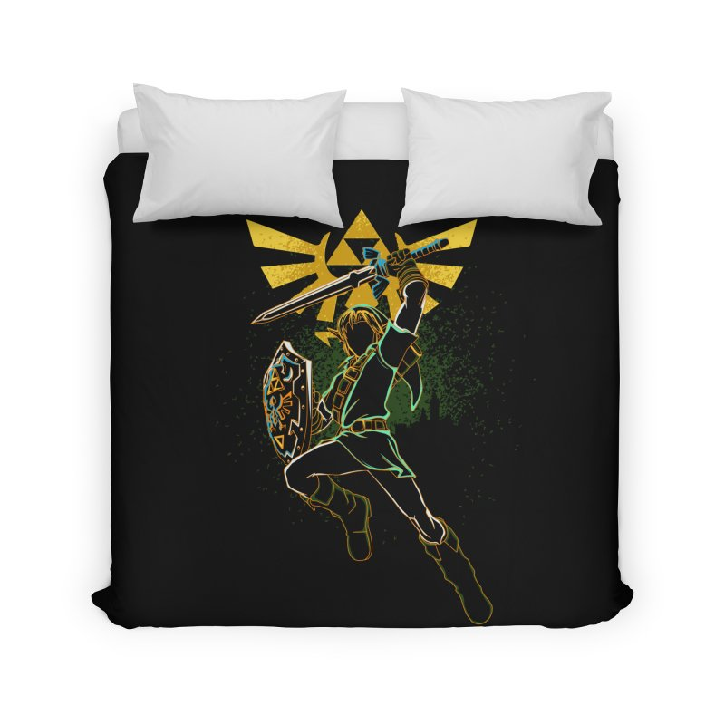 Shadow of courage Home Duvet by Donnie's Artist Shop