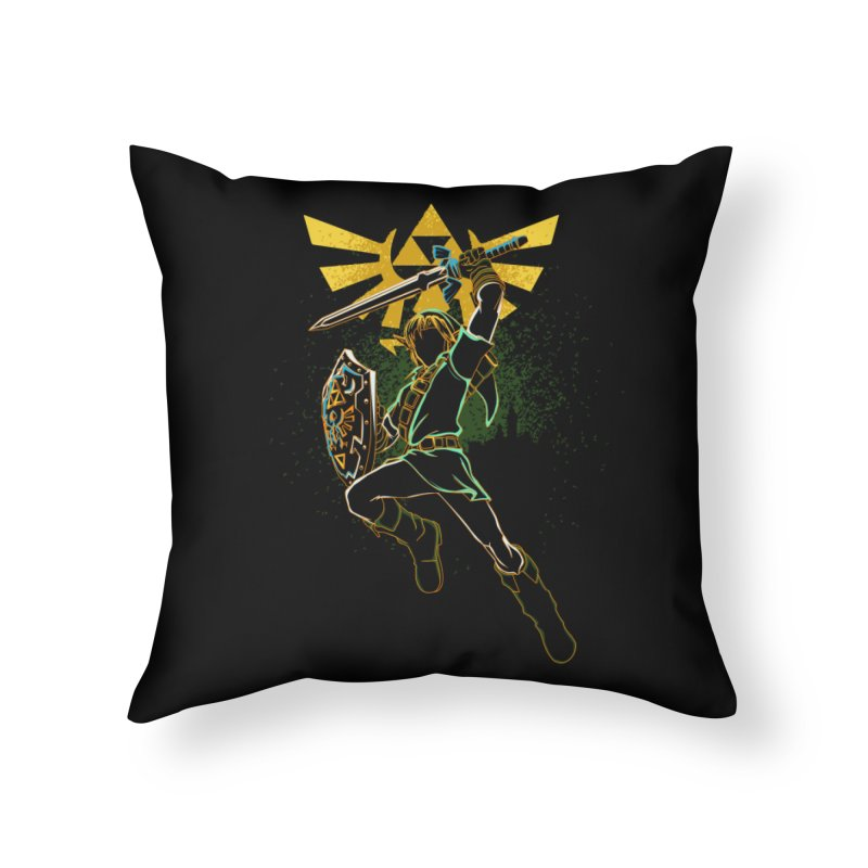 Shadow of courage Home Throw Pillow by Donnie's Artist Shop