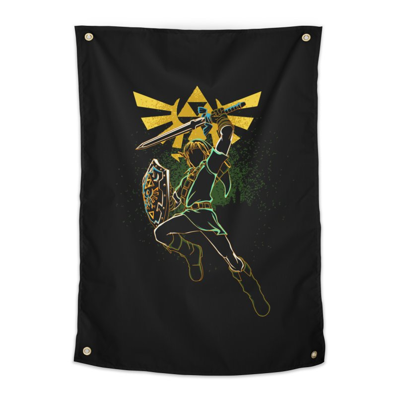 Shadow of courage Home Tapestry by Donnie's Artist Shop