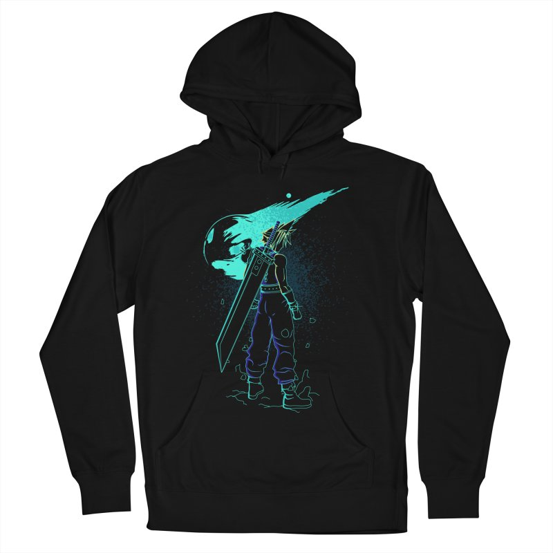 Shadow of the meteor Men's French Terry Pullover Hoody by Donnie's Artist Shop