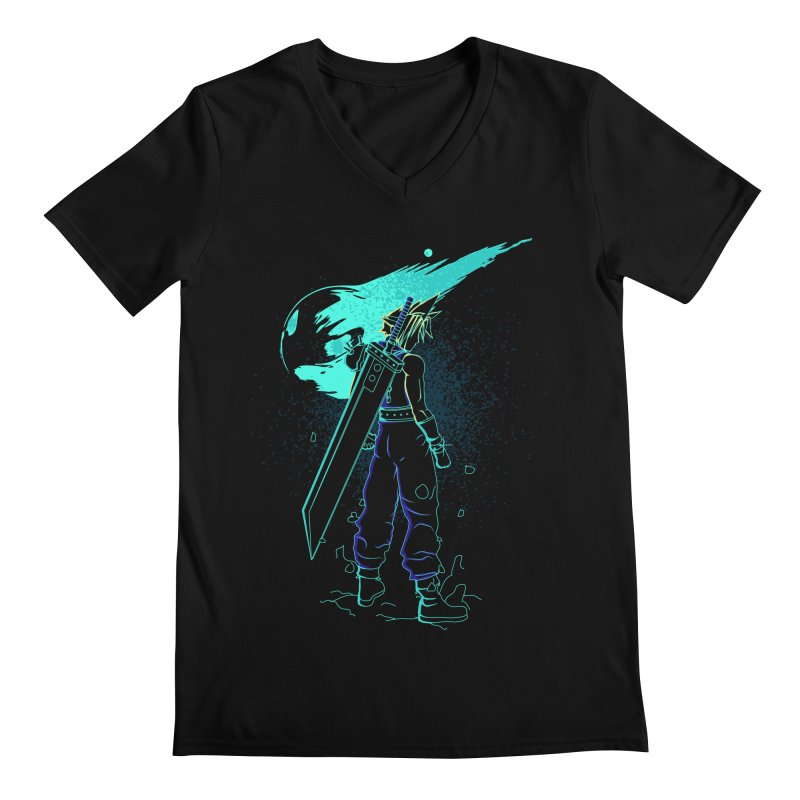 Shadow of the meteor Men's V-Neck by Donnie's Artist Shop