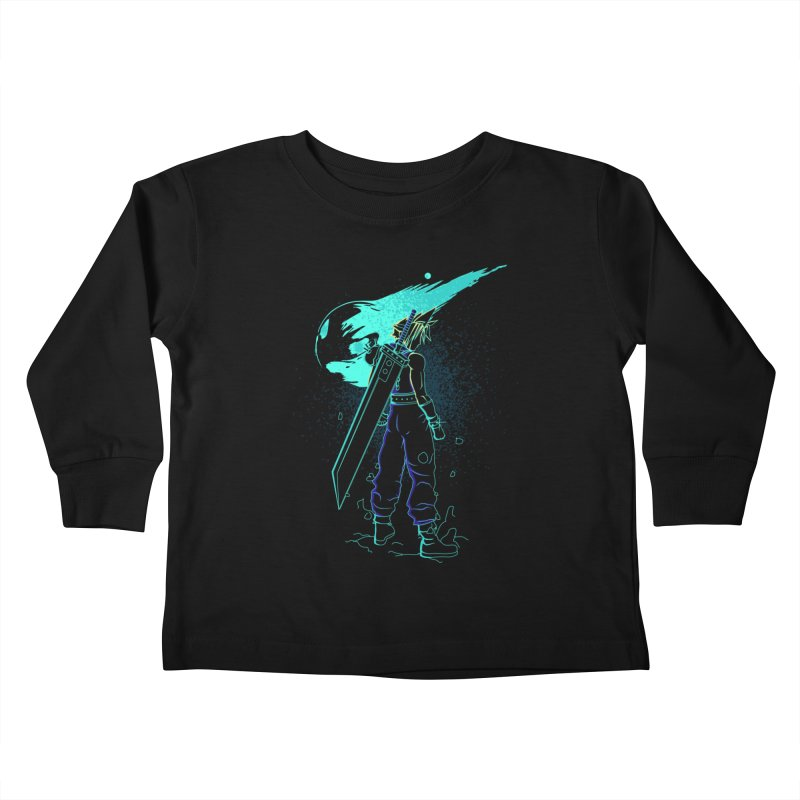 Shadow of the meteor Kids Toddler Longsleeve T-Shirt by Donnie's Artist Shop
