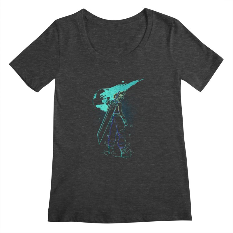 Shadow of the meteor Women's Scoopneck by Donnie's Artist Shop