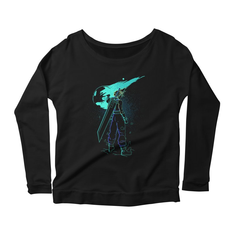 Shadow of the meteor Women's Scoop Neck Longsleeve T-Shirt by Donnie's Artist Shop