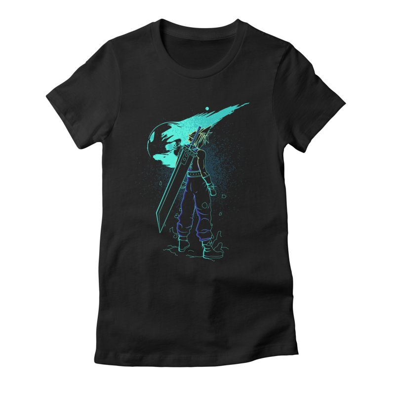 Shadow of the meteor Women's Fitted T-Shirt by Donnie's Artist Shop
