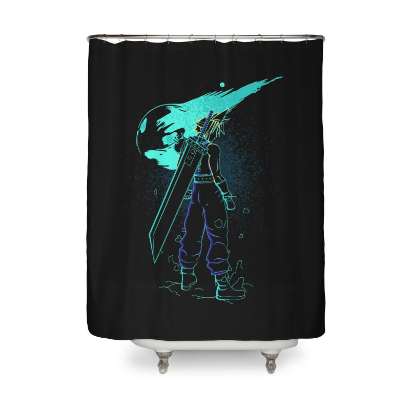 Shadow of the meteor Home Shower Curtain by Donnie's Artist Shop