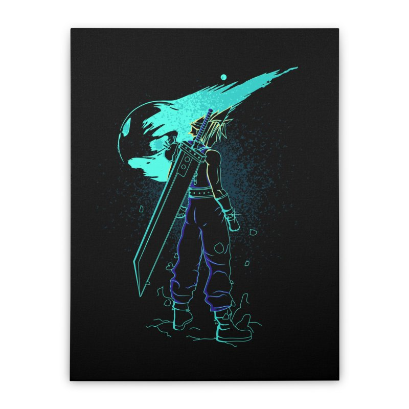 Shadow of the meteor Home Stretched Canvas by Donnie's Artist Shop