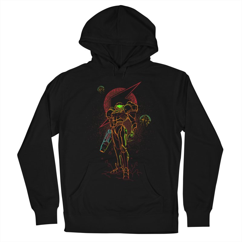 Shadow of bounty hunter Men's French Terry Pullover Hoody by Donnie's Artist Shop