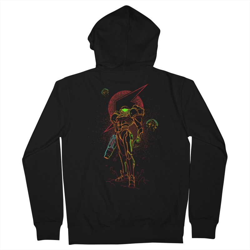 Shadow of bounty hunter Men's French Terry Zip-Up Hoody by Donnie's Artist Shop