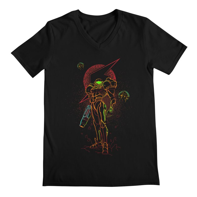 Shadow of bounty hunter Men's V-Neck by Donnie's Artist Shop