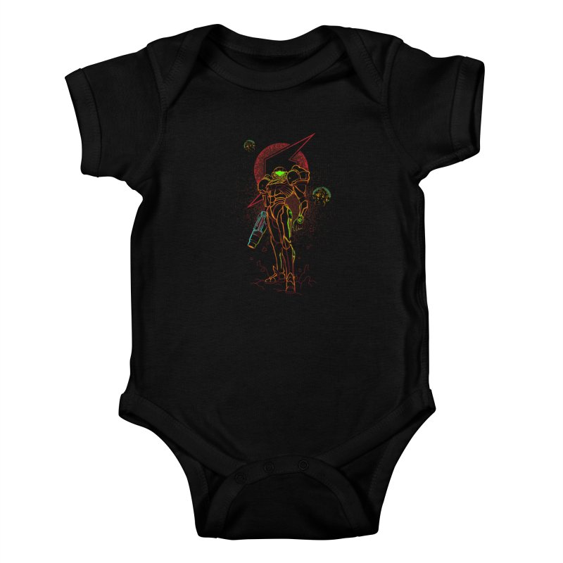 Shadow of bounty hunter Kids Baby Bodysuit by Donnie's Artist Shop