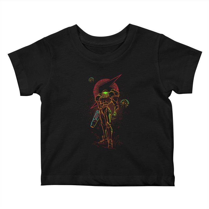 Shadow of bounty hunter Kids Baby T-Shirt by Donnie's Artist Shop