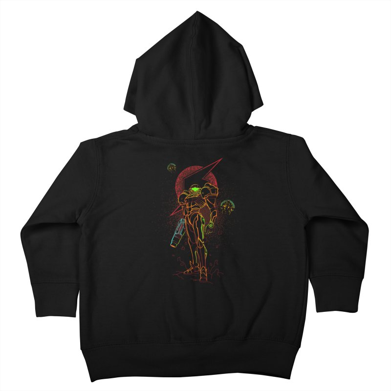 Shadow of bounty hunter Kids Toddler Zip-Up Hoody by Donnie's Artist Shop