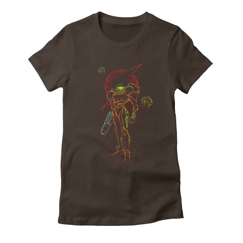 Shadow of bounty hunter Women's Fitted T-Shirt by Donnie's Artist Shop