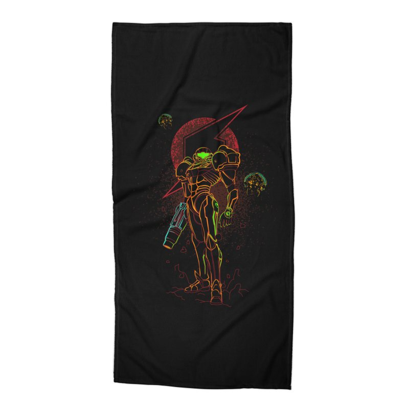 Shadow of bounty hunter Accessories Beach Towel by Donnie's Artist Shop